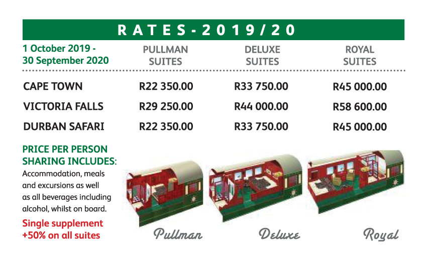 Rovos Rail Pricing