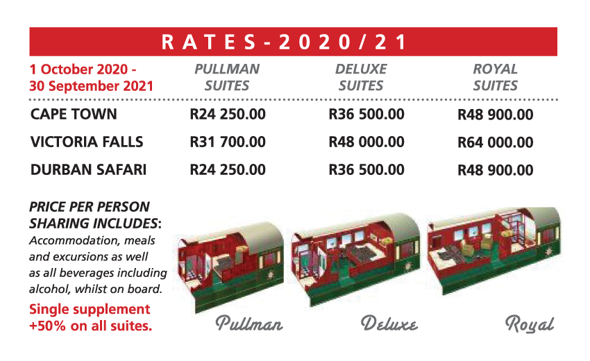 Rovos Rail Prices
